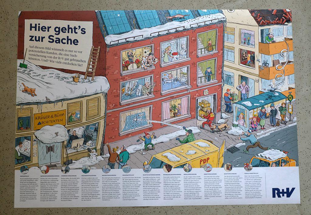 Wimmelbild von Ivo Kircheis für R+V Versicherung